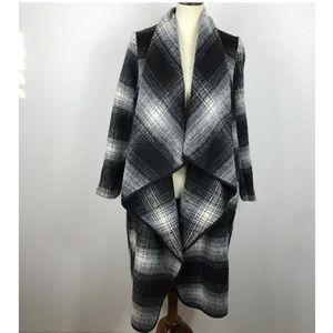 Forever 21 Plaid Asymmetrical Coat